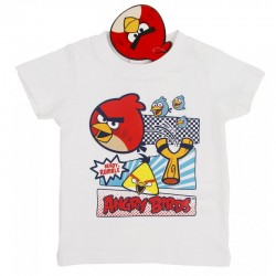 Tricou alb Angry Birds
