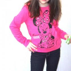 Bluza fete Disney Minnie Mouse roz
