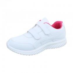 Pantofi sport  alb/roz
