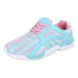 Pantofi sport  green pink white