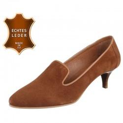 Pantofi piele naturala Dinago cognac P003