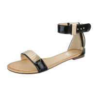 Sandale Mermaid Gold/Black